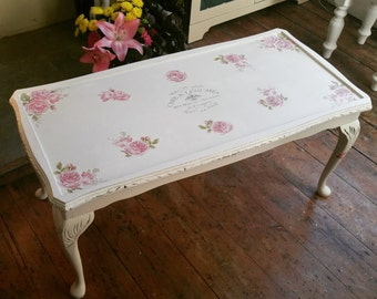 Vintage Decoupage Coffee Table