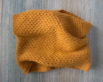 Organic Merino Wool Honeycomb Cowl– Made in USA