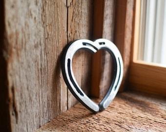 Metal Pony Shoe Heart Wall Art