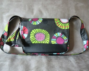 Black bag Messenger bag REVERSIBLE