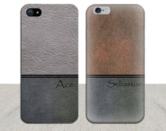 personalised iPhone 6 Case leather phone case phone case for men iPhone 6 Plus Case iPhone 5 Case Samsung Galaxy S5 iPhone5 gift for dad