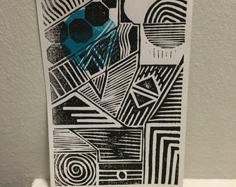 DESIGNBLOCK / hand pressed block print Linocut