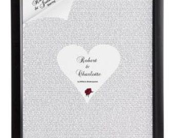 Peronalised Romeo & Juliet Poster Frame