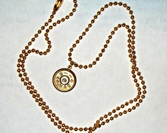 Bullet Jewelry- 44 Caliber Bullet Charm on Ball Chain