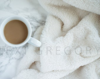 Styled Stock Photography / Digital Background / Styled Photography / JPEG Digital Image / Stock Image / Marble Stock Image / Coffee