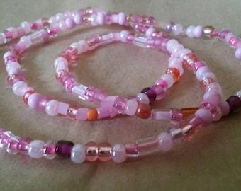 Pink Czech Bracelet