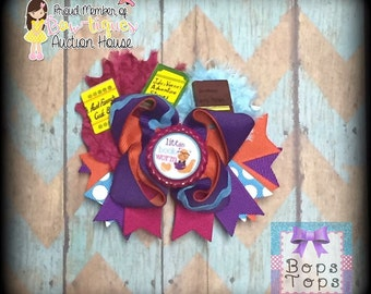 Book worm Stacked Boutique Bow