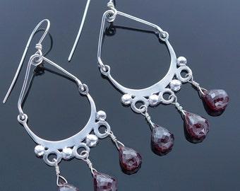 Silk Road Vintage Garnet Earrings