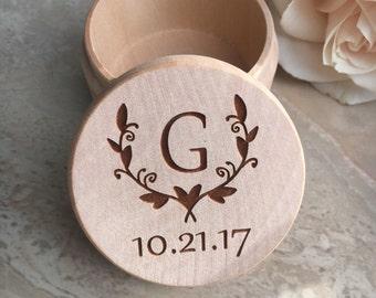 Engraved Ring Box Ring Bearer Box Engraved Wedding Box Ring Box Rustic Wedding Box Wedding Shower Gift Wedding Ring Holder Wood Engraved Box