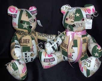 I Kissed a Soldier..And I Liked It Bear - Stuffed with Love by Plush For A Cause