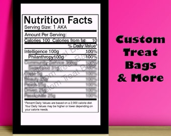 birthday nutrition facts label for custom chip treat bags. Black Bedroom Furniture Sets. Home Design Ideas