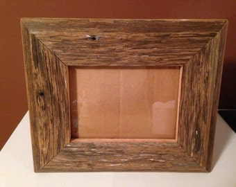 100 year old barn wood picture frame