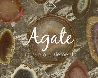 Agate Vintage Clip Art Stones Minerals Crystals Gems Rocks Gemstones Geology