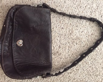 Handmade Brown Leather Purse