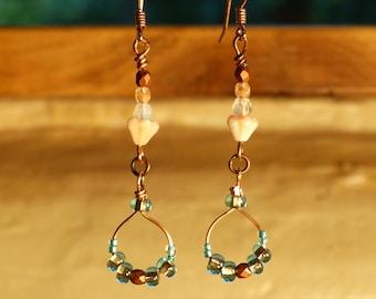 Dakini Dangle Earrings - Peach Blossom