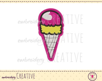 Embroidery design ice cream for patch