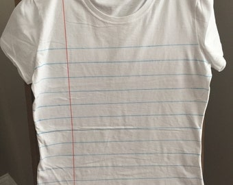 Women's Fitted Notebook Paper Tee