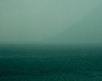 Rainstorm | Thunderstorm | Sea | Water | Green Blue Grey | Mist | Fog | Unreal Silhouette | Shadow | Fine Art Photography | polychromatophil