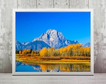 Grand Teton Print, Instant Download, Travel Photography, Home Decor, Wall Art, Travel Prints, Mountain Photography, Wyoming