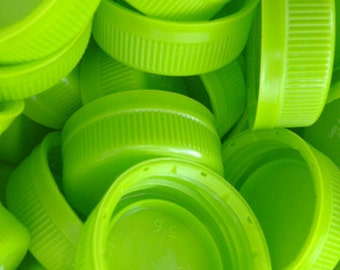 Craft Supplies-Green Plastic Caps