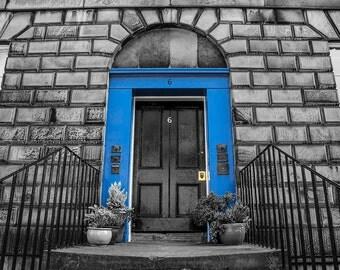 Blue Door in Edinburgh's New Town