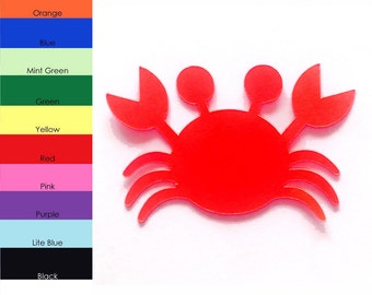 25 Pack - Paper Crab Shape, Crab Die Cut, Crab Cut Outs, Paper Crafting, Sea Animal Shapes