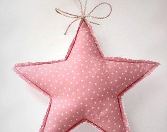Hanging pink star