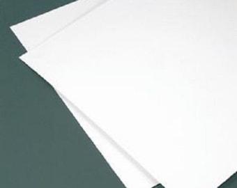 "WHITE  Polystyrene  Plastic Sheet - 24"" X 24"" - .040"" Thick - Printing crafs models"