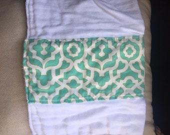 Turquoise burp cloth