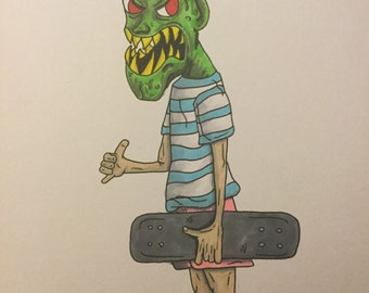 Monster skater dude original character by me