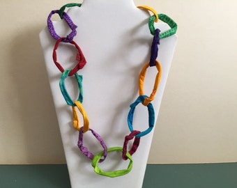 Loopy Loops Fabric Necklace
