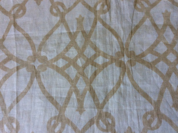 3yds Fioretto Sandstone 100% linen...new but needs pressing...thus the discounted price! Fabric by the yard