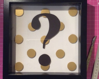 Gold and Black Question Mark