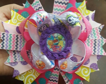 Shopkins stacked hairbow