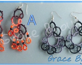 Embroidered earrings 3