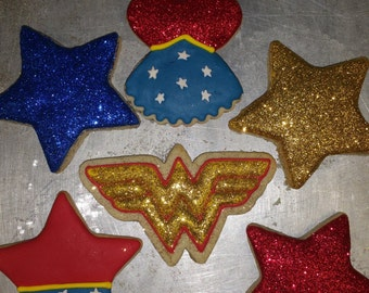 Wonder Woman Cookies - 1 Cookie