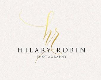 Gold Logo   Monogram   Logo Design, Graphic Design, Custom Logo, Photography Logo, Logo for Small Business, Boutique Logo