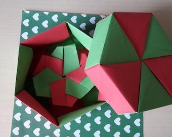 Hexagonal origami box