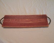 Wine stave serving tray