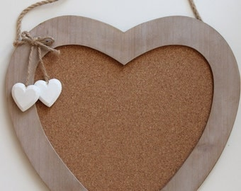 Wooden heart pin board