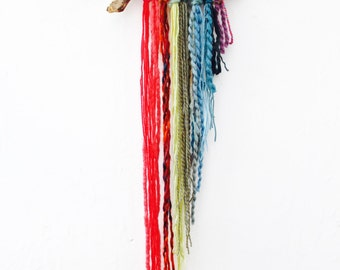 Wall hanging, Enfys (rainbow), rainbow wall hanging, small wall hanging, bohemian decor