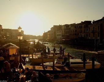 Happy Hour in Venice - Venice Photo - Sunset Photography - Italy Photo - Art Photo - Venice Art - Happy Hour Photo