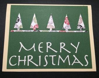 Christmas Card, Merry Christmas, Holiday Card, Handmade Christmas Card, Mid-Century/Modern Christmas Card, Graphic Design Christmas Card