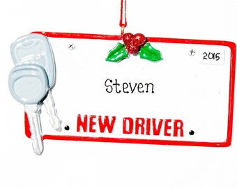 Personalized Ornament- New Driver Driver's License Ornament- Free Gift Bag Included