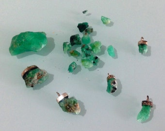 Emerald pendants rustica