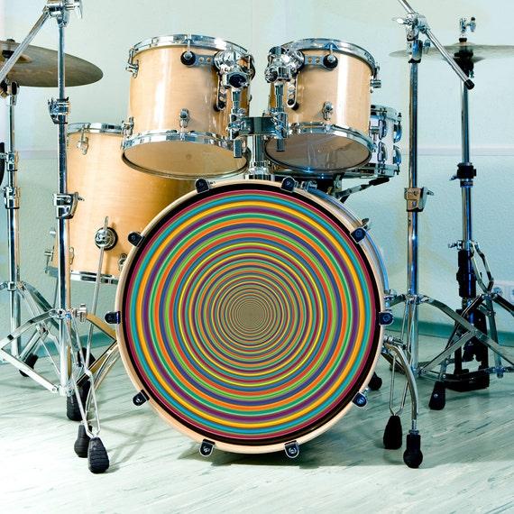 drum skin for bass snare and tom drums supertube rainbow art. Black Bedroom Furniture Sets. Home Design Ideas