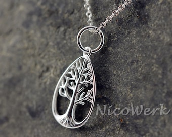 Silver necklace with pendant necklace ladies 925 Silver Chain jewelry 166