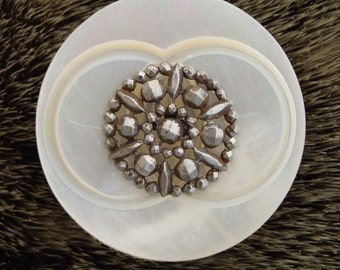 Vintage Button Shell and Metal