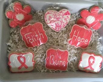 Brest Cancer Awareness Sugar Cookie