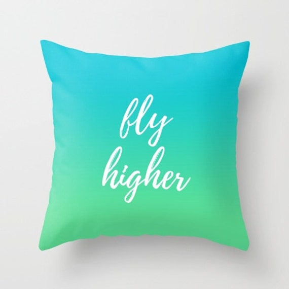 Decorative Throw Pillows With Words : Blue Throw Pillows Decorative Throw Pillows with Words Throw